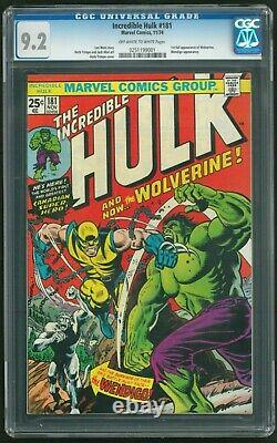 INCREDIBLE HULK 181 CGC 9.2 (First Appearance of Wolverine) OLDER LABEL