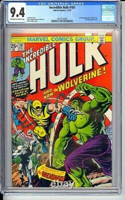 INCREDIBLE HULK #181 CGC 9.4 NM THE BOOK OF THE BRONZE AGE! NICE OWithW PAGES