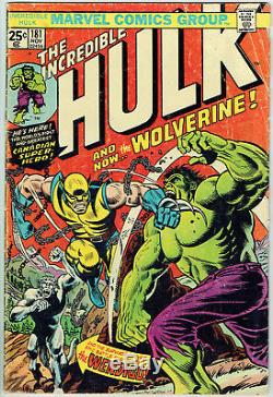 INCREDIBLE HULK 181 GD/VG/3.0 1st full appearance of Wolverine