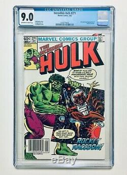 INCREDIBLE HULK #271, 1982, 1st Comic Book App. Of ROCKET RACCOON, CGC 9.0