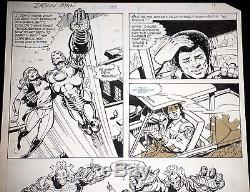 IRON MAN #139 Original Marvel Comic Art pg 7 BOB LAYTON Rhodey app 1980