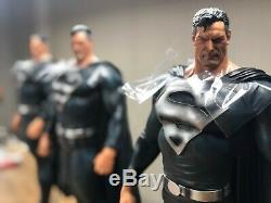 In Stock Private Custom Black SuperMan 1/4 Scale Ploystone Statue