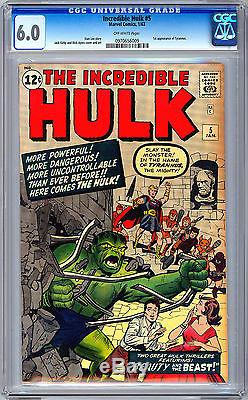 Incredible Hulk #1-2-3-4-5-6 Cgc-ss 1st Issue Mme Reprint Signed Stan Lee 1962