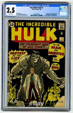 Incredible Hulk #1 CGC 2.5 Marvel Comics MEGA KEY 1st App/Origin Silver Age 12c