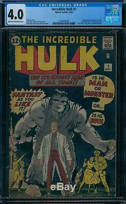 Incredible Hulk 1 CGC 4.0 1st Hulk