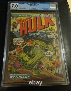 Incredible Hulk #180 CGC 7.0 OWithW 1st Appearance Wolverine in Cameo Marvel Key