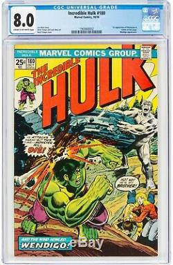 Incredible Hulk 180 CGC 8.0 First Apperance Of Wolverine In Cameo