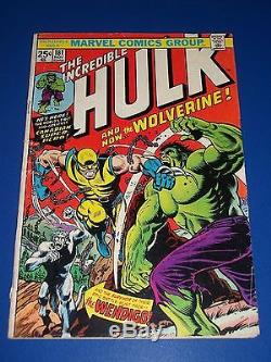 Incredible Hulk #181 Bronze Age 1st Wolverine Enormous Key Wow withMVS