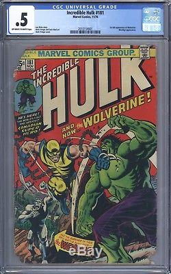 Incredible Hulk #181 CGC 0.5 Nice But Low Grade 1st Appearance of Wolverine