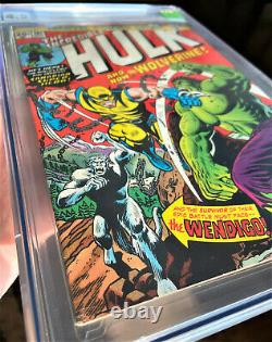 Incredible Hulk 181 CGC 4.5 1ST APP WOLVERINE 1974 Comic Book. Front Cover 6.5