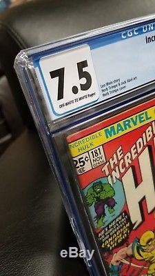 Incredible Hulk #181 CGC 7.5 1st App Wolverine Free Shipping MEGA KEY ISSUE