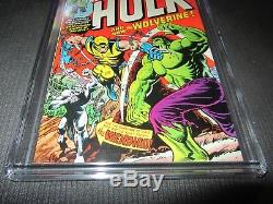 Incredible Hulk 181 CGC 8.0, 1st Wolverine (Marvel 1974) White Pages