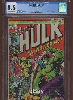 Incredible Hulk 181 CGC 8.5 Marvel 1974 1st Full Wolverine. Wendigo App