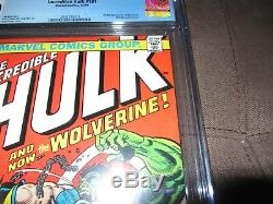 Incredible Hulk 181 CGC 9.0, 1st Full Wolverine, White Pages! Marvel 1974 (MC)