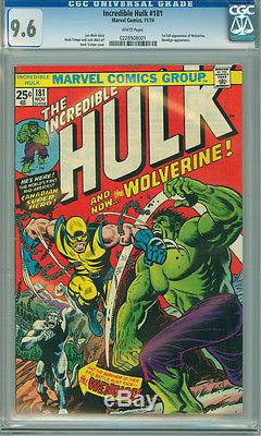 Incredible Hulk #181 CGC 9.6 WHITE PAGES 1st Appearance of Wolverine Logan
