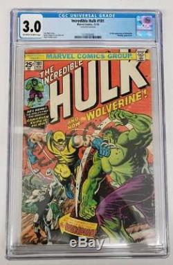 Incredible Hulk #181 CGC Graded 3.0 1st Appearance Wolverine #1573532002 OWithW