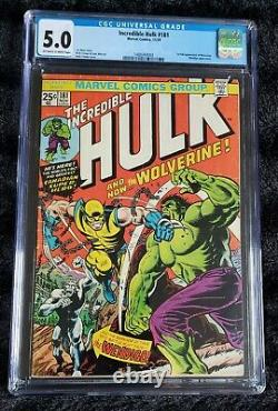 Incredible Hulk #181 CGC NEW GRADE 5.0 1974 1st app. Wolverine (full non-cameo)