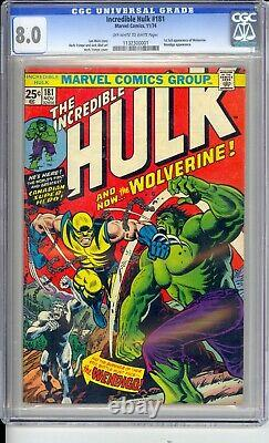 Incredible Hulk #181 Cgc 8.0 Vf #1 Book Of The 70's! Solid Graded Copy