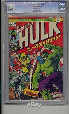 Incredible Hulk #181 Cgc 8.5 1st Wolverine