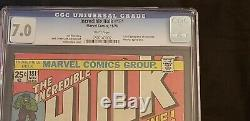 Incredible Hulk #181 First Appearance of Wolverine CGC 7.0