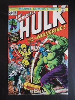 Incredible Hulk #181 -HIGH GRADE- 1974 1st App of Wolverine X-Men
