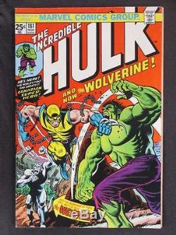 Incredible Hulk #181 MARVEL 1974 1st EVER App of Wolverine Holy Grail