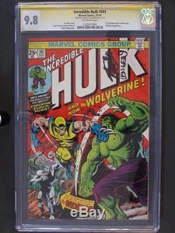 Incredible Hulk #181 -MINT- CGC 9.8 NM/MT Marvel 1974 Signed 1st Wolverine