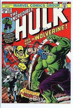 Incredible Hulk #181 Vol 1 Near Perfect High Grade 1st Wolverine with Marvel Stamp