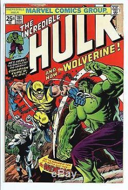 Incredible Hulk #181 Vol 1 Very Nice Mid Grade Qualified 1st App of Wolverine