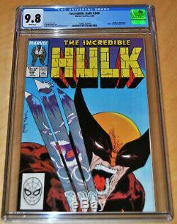 Incredible Hulk #340 CGC 9.8 (WHITE PAGES) Hulk vs. Wolverine & McFarlane Art