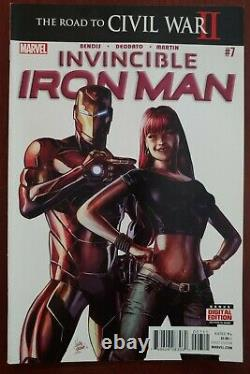 Invincible Iron Man 7 1st appearance Riri Williams! Super high grade NM/NM+