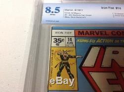 Iron Fist 14 35 Cent Variant! Cbcs 8.5 1st Sabretooth Mega Key Mega Rare Not Cgc