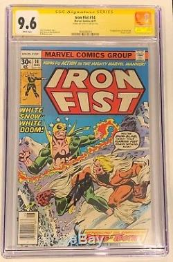 Iron Fist #14 CGC 9.6 SS Signed STAN LEE NM+ 1st Appearance Sabertooth WP