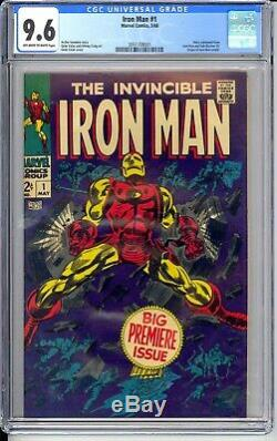 Iron Man #1 Cgc 9.6 Nm+ Classic Cover! Book Is So Sharp. Almost Perfect