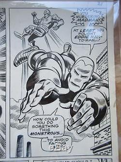 Iron Man 22 comic book original art OA George TUSKA Crimson Dynamo 1969