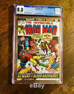 Iron Man #55 CGC 8.0 1st Appearance Of Thanos Avengers Endgame! White Pages
