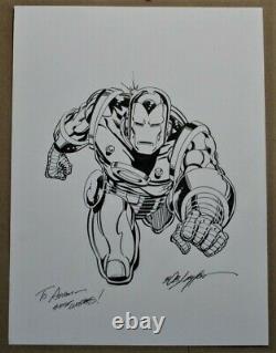 Iron Man original comic book art sketch Bob Layton
