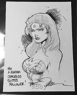 Jim Lee Original Art Sketch Wonder Woman Commission Comic Book Sdcc C2e2 Nycc