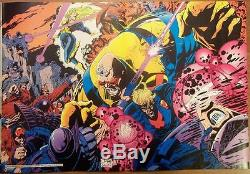 Joe Quesada 1992 X-factor Dps Promo Poster Original Art Very Large 16x20