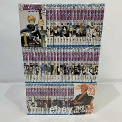 Japanese Language BLEACH Comic Book Manga vol. 1-74 Complete set lot
