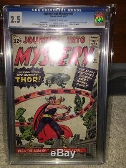 Journey Into Mystery #83 CGC 2.5 1962 1st Thor Avengers Iron Man Hulk E12 104 cm