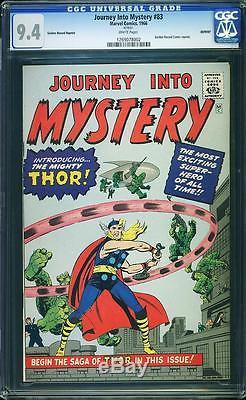 Journey Into Mystery #83 CGC 9.4 1966 1st Thor! White Pages! Avengers! E8 122 cm