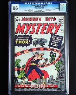 Journey Into Mystery #83 Cgc Affordable 1962 Original Copy 1st Appearance Thor
