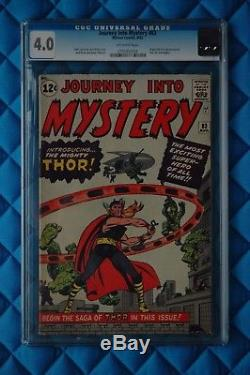Journey into Mystery #83 (Aug 1962, Marvel) CGC 4.0 OW 1st appearance Thor Lee