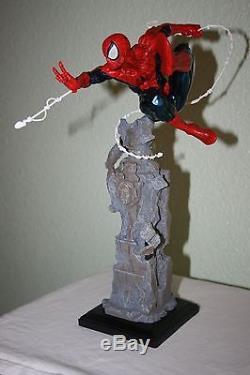 KOTOBUKIYA SPIDERMAN UNLEASHED FINE ART STATUE not bowen /sideshowithdc VERY RARE