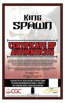 King Spawn #1 Signed 1250 Retailer Incentive Variant Including Cgc Certificate