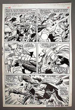 Kirby Thor #137 Page 9 Twice Up Thor & Ulik Amazing Battle Page, 1st Appearance