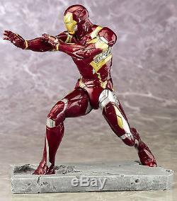 KotoBukiya Captain America Vs Iron Man Civil War Movie ARTFX+ Statue 2 Pc Set