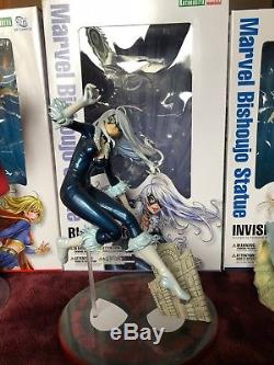 Kotobukiya Bishoujo Catwoman, Harley Quinn, Supergirl, Powergirl, etc Statues