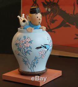 LA POTICHE TINTIN ET MILOU Le Lotus Bleu Hergé moulinsart collection numérotée